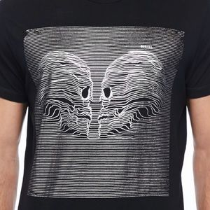 Diesel Black T-Joy Two-Skull T-Shirt